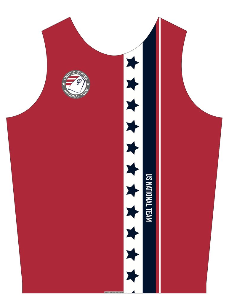 UNISEX PINNIE TOP SLEEVELESS RED | USNT