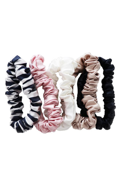 SLIP MIDI SCRUNCHIES - MIXED