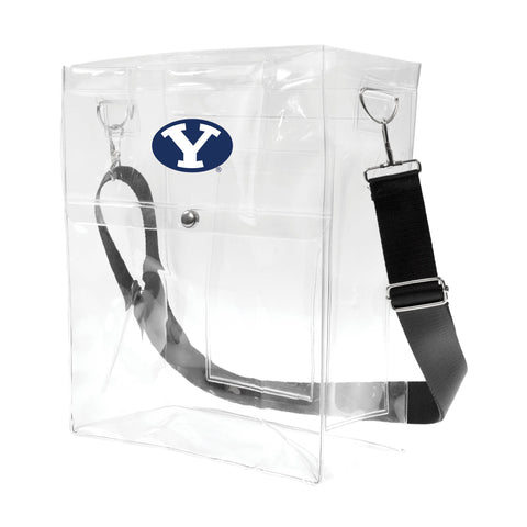 BYU Cougars Clear Ticket Satchel