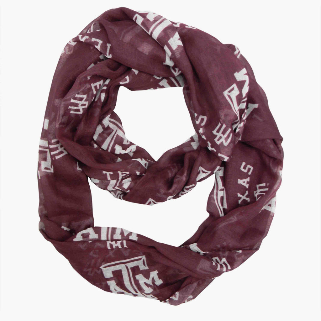 Texas A&M Aggies Sheer Infinity Scarf - Std
