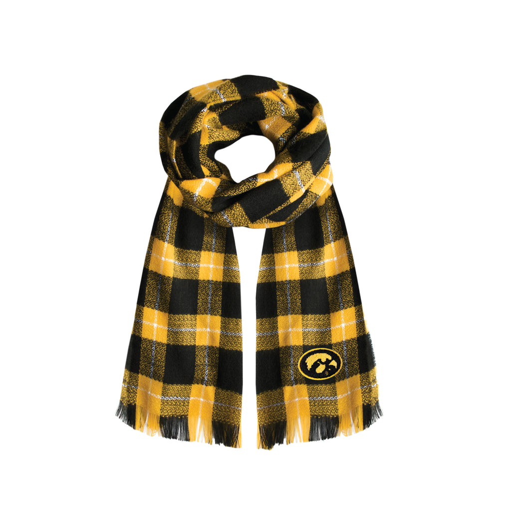 Iowa Hawkeyes Plaid Blanket -  Scarf
