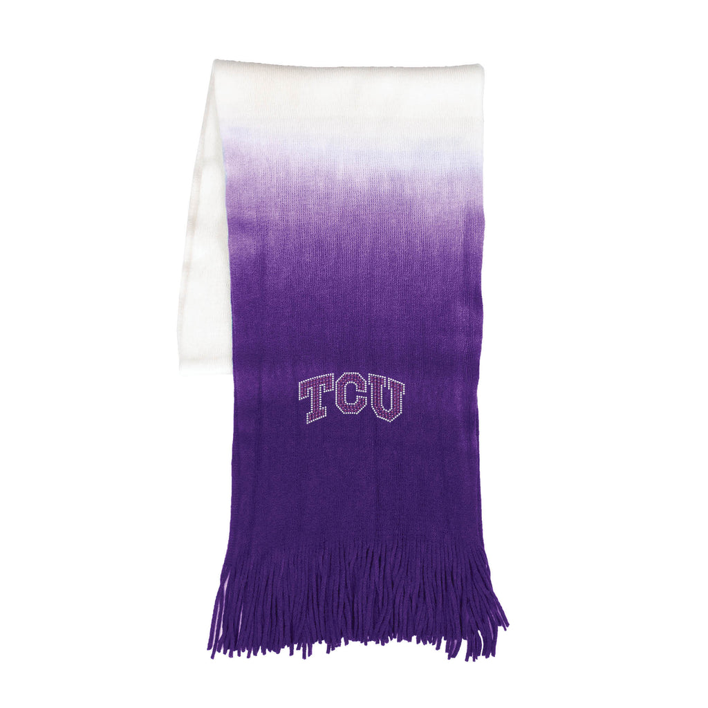 TCU Horned Frogs Dip Dye Scarf - Purple