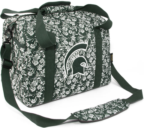 Michigan St Bloom Mini Duffle