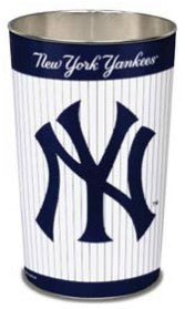 "New York Yankees 15"" Waste Basket - Pinstripes"