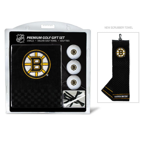 Boston Bruins Embroidered Golf Towel, 3 Golf Ball, and Golf Tee Set