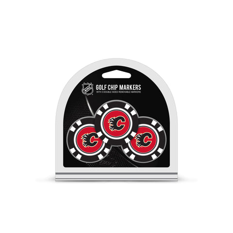 Calgary Flames 3 Pack Golf Chip Ball Markers