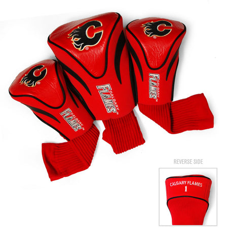 Calgary Flames 3 Pack Contour Head Covers
