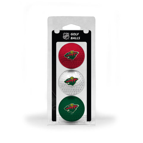 Minnesota Wild 3 Golf Ball Pack