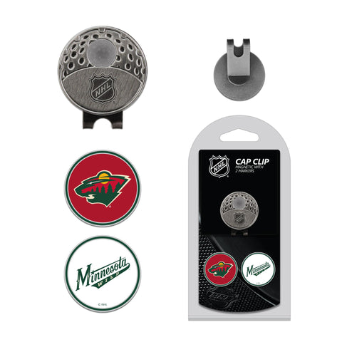 Minnesota Wild Cap Clip With 2 Golf Ball Markers