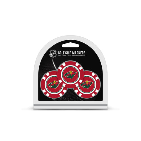 Minnesota Wild 3 Pack Golf Chip Ball Markers