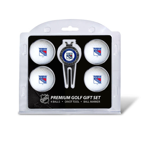 New York Rangers 4 Golf Ball And Divot Tool Set