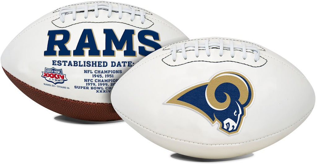 St. Louis Rams Full Size Embroidered Signature Series Football
