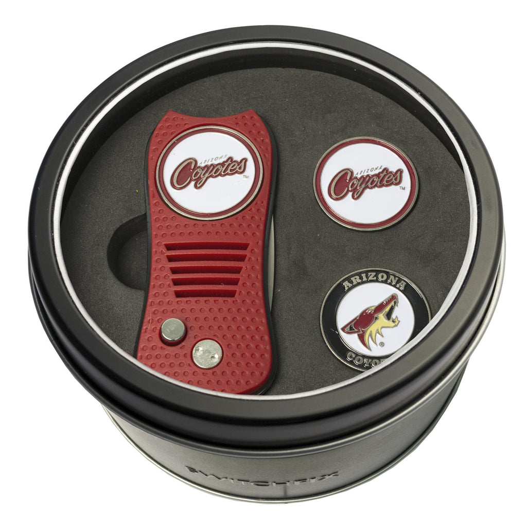 separation shoes 276fe e9838 Arizona Coyotes Tin Gift Set with Switchfix Divot Tool and 2 Ball Mark –  Fan Shop HQ