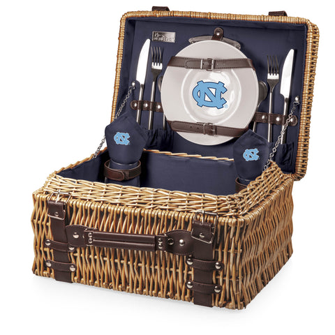 North Carolina Tar Heels 'Champion' Picnic Basket-Navy Digital Print