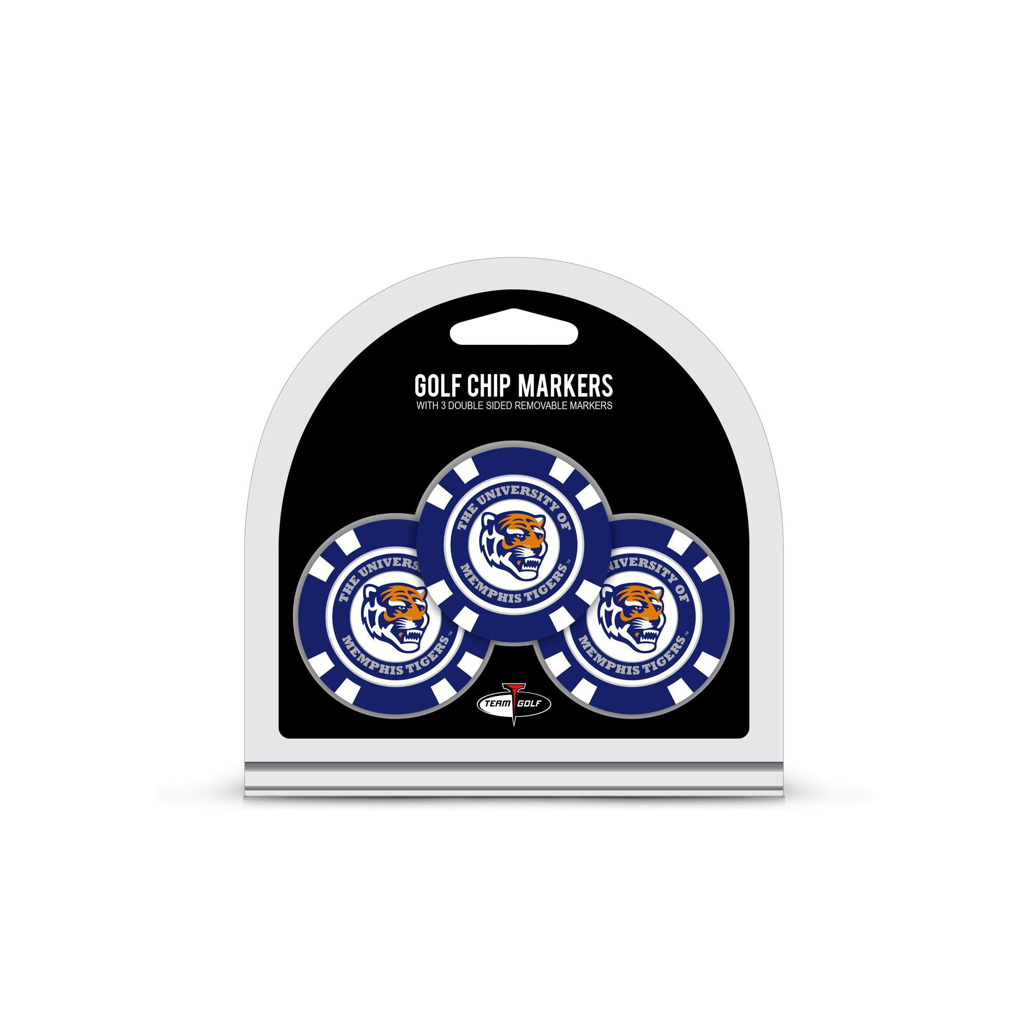 Memphis Tigers 3 Pack Golf Chip Ball Markers