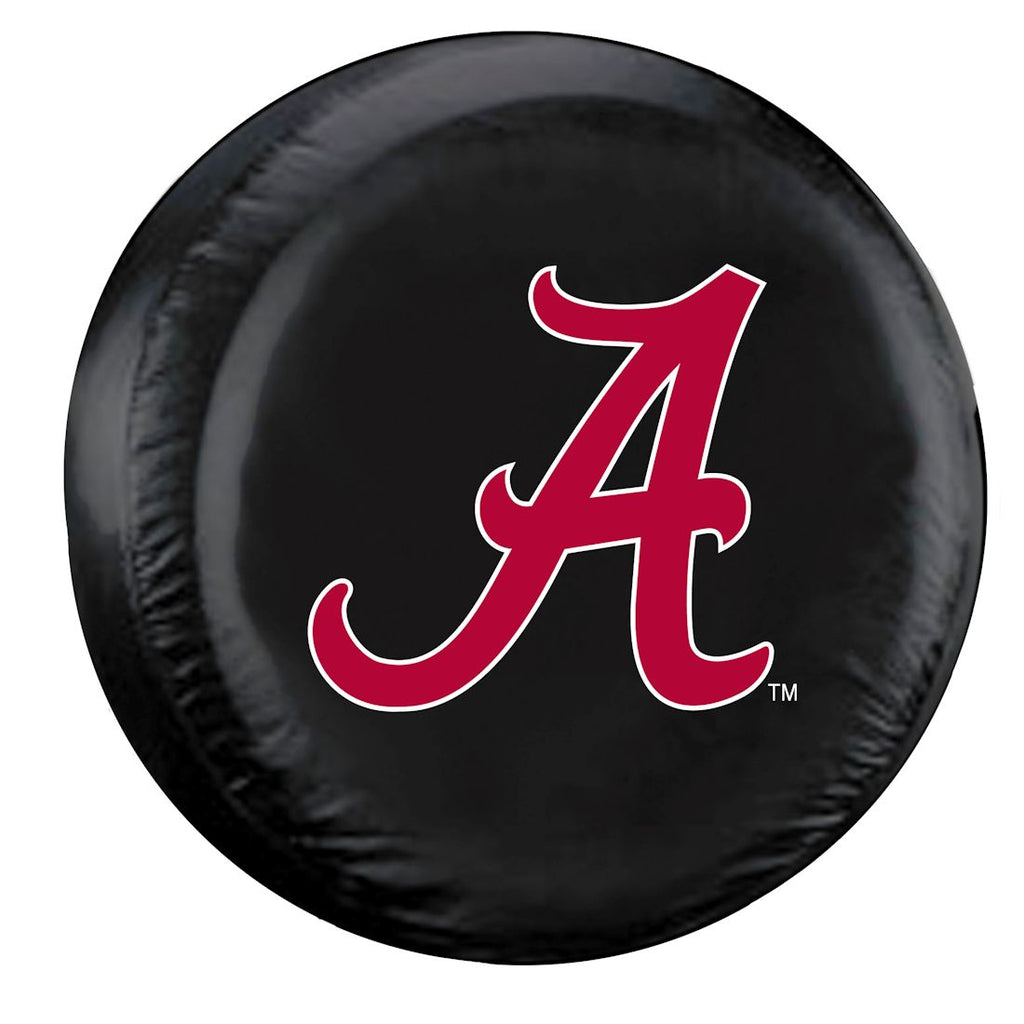 Alabama Crimson Tide Black Tire Cover - Standard Size