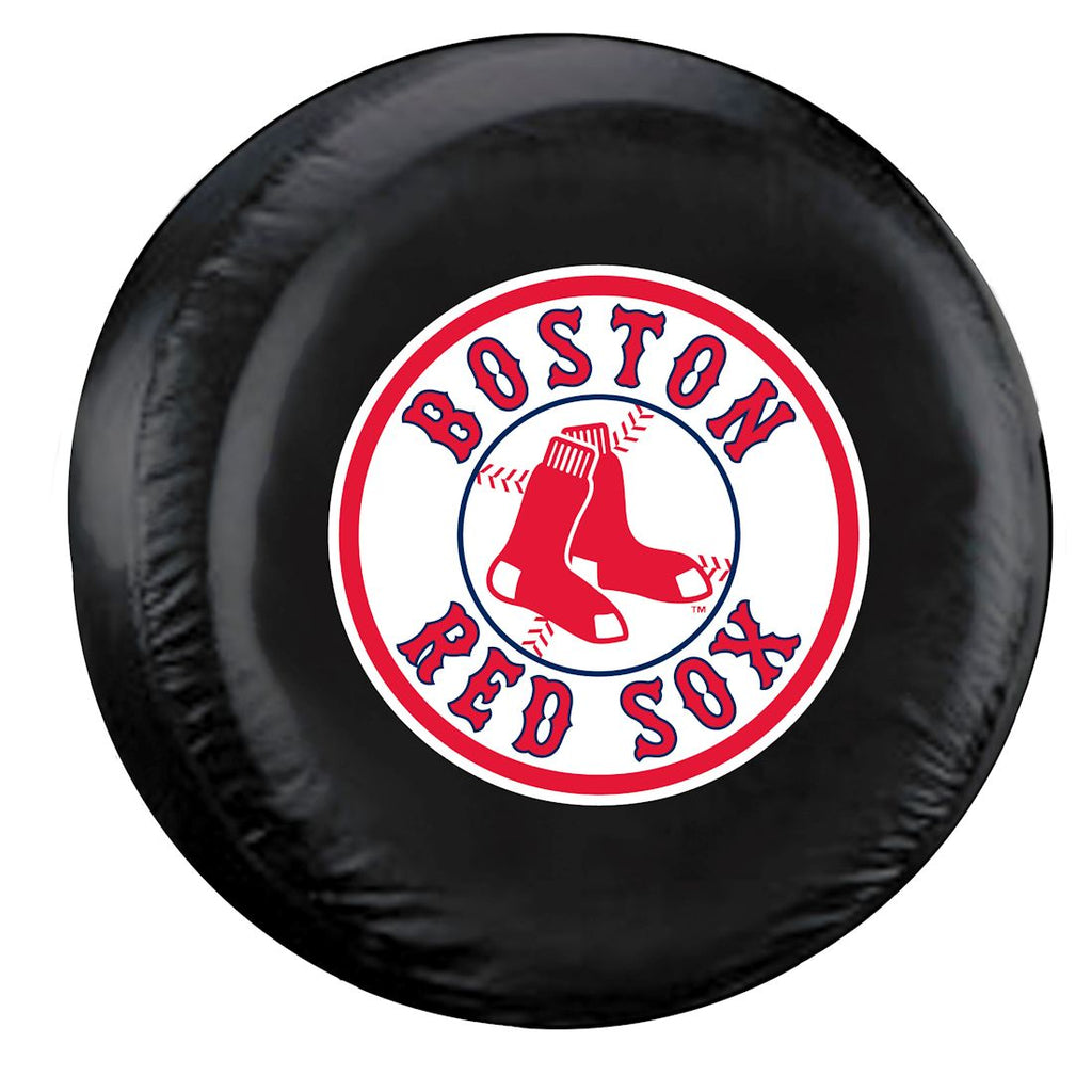 Boston Red Sox Black Tire Cover - Size Large