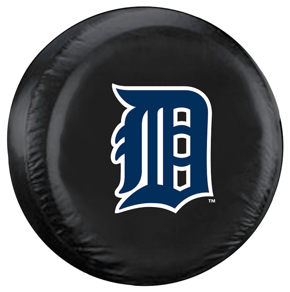 Detroit Tigers Black Tire Cover - Standard Size