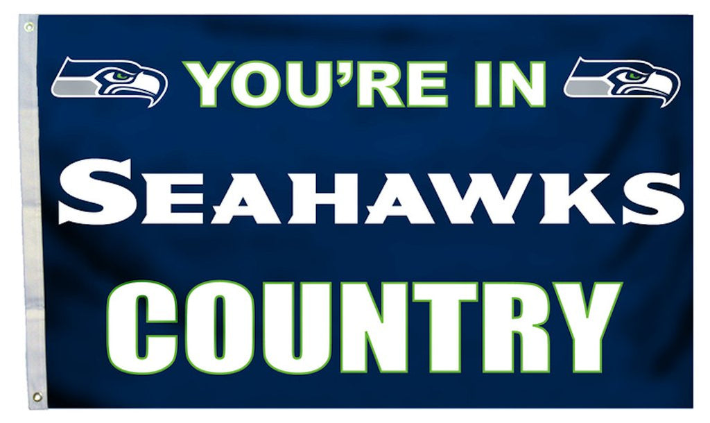 Seattle Seahawks 3'x5' Country Design Flag