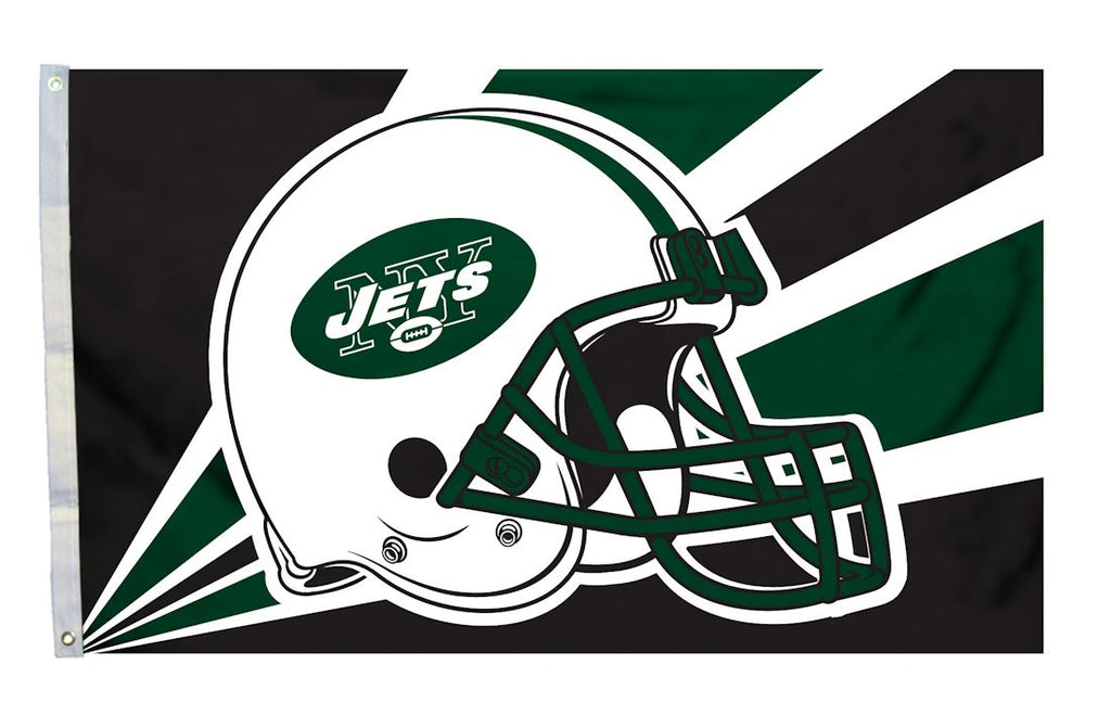 New York Jets 3'x5' Helmet Design Flag