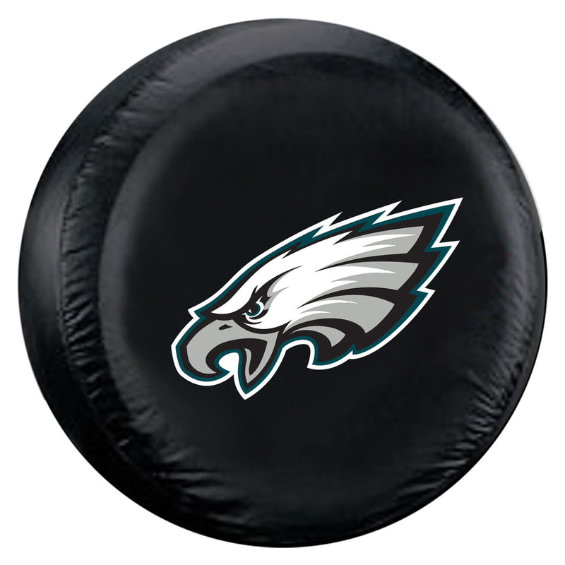 Philadelphia Eagles Black Tire Cover - Size Large