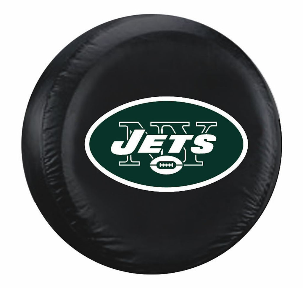 New York Jets Black Tire Cover - Standard Size