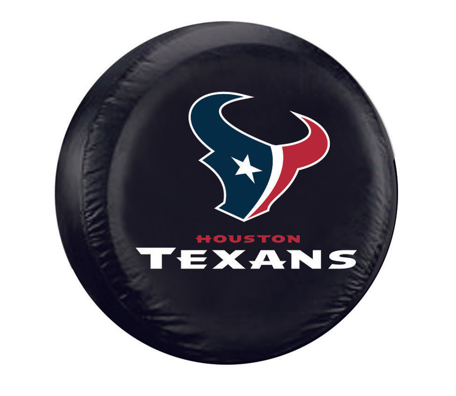 Houston Texans Black Tire Cover - Standard Size