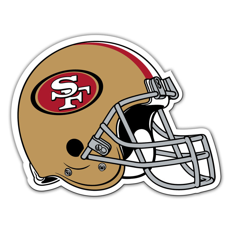 "San Francisco 49ers 12"" Helmet Car Magnet"