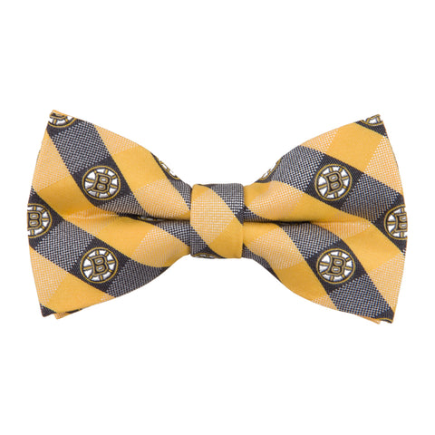 Boston Bruins Check Style Bow Tie