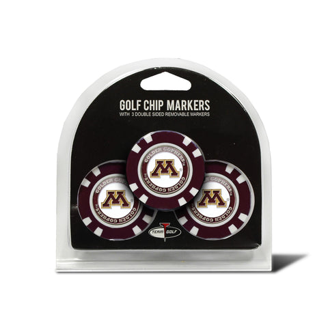 Minnesota Golden Gophers 3 Pack Golf Chip Ball Markers