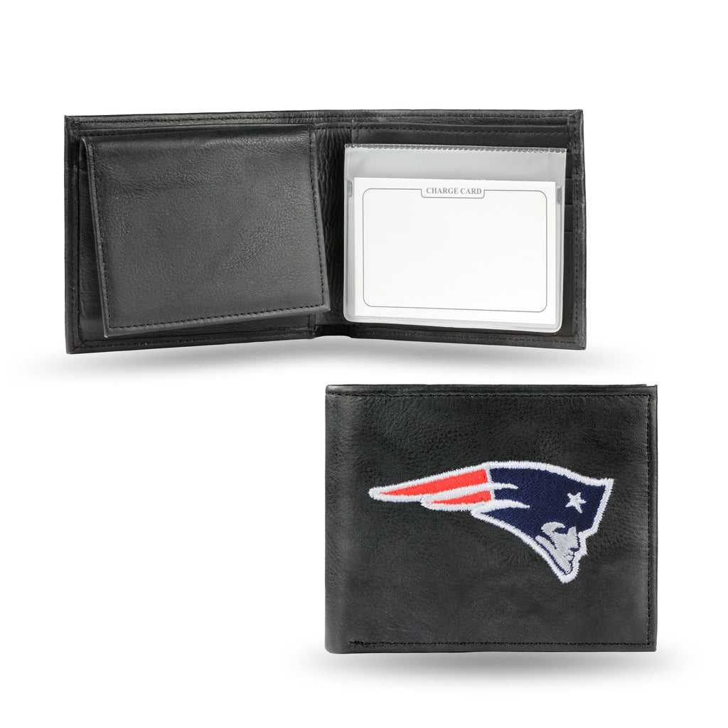 New England Patriots Embroidered Leather Billfold