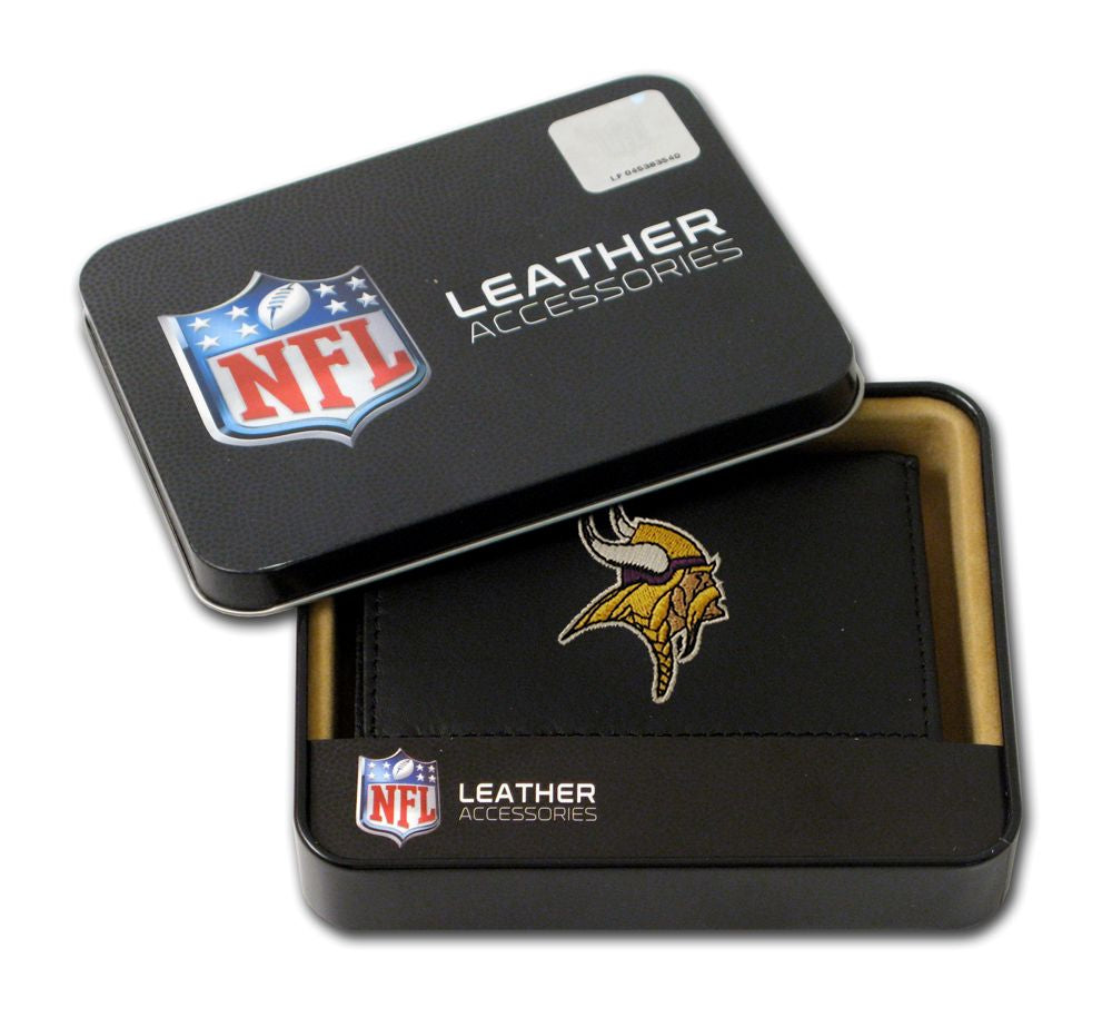 Minnesota Vikings Embroidered Leather Tri-Fold Wallet