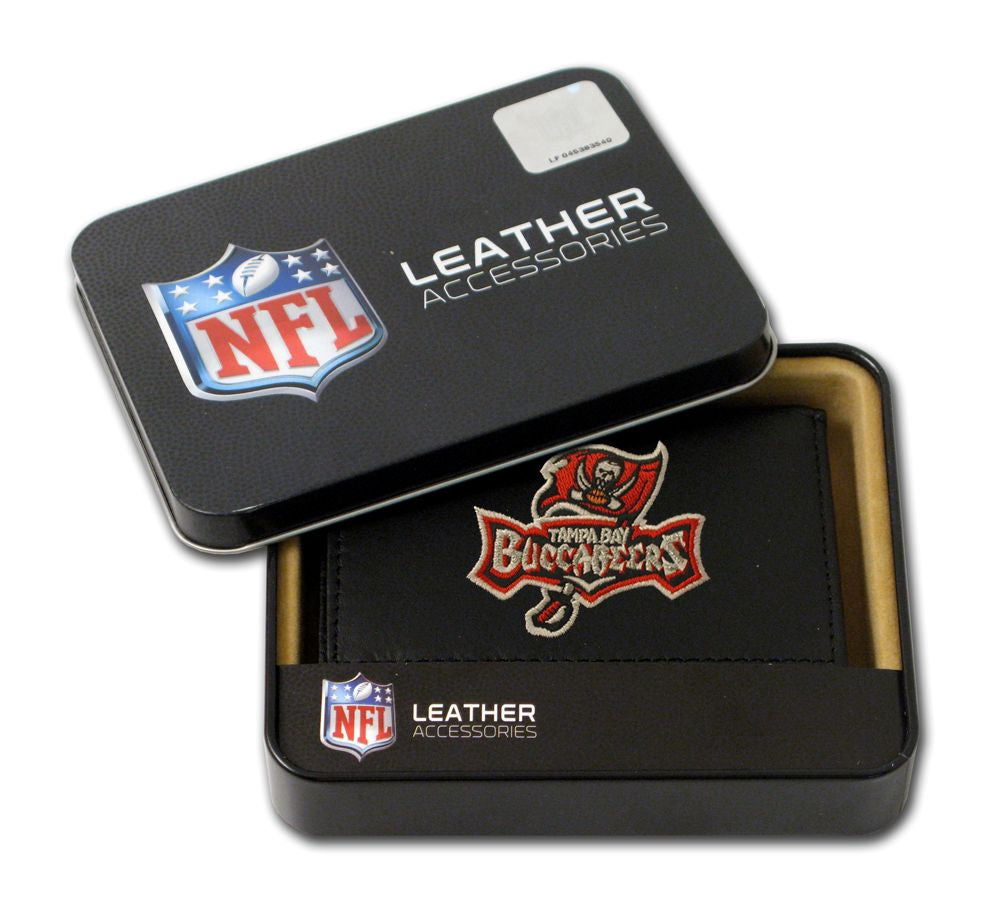 Tampa Bay Buccaneers Embroidered Leather Tri-Fold Wallet