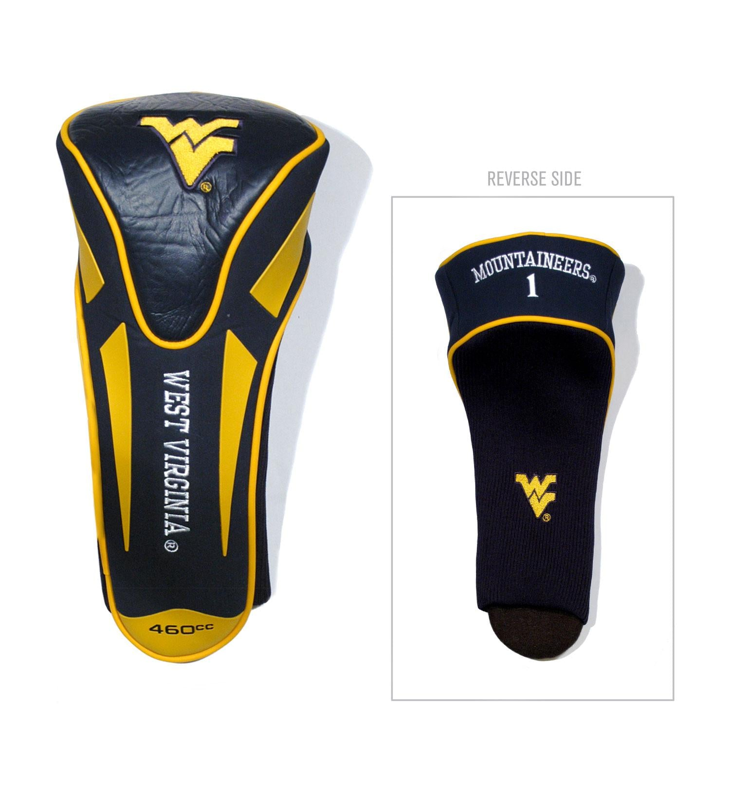 West Virginia Mountaineers Single Apex Driver Head Cover