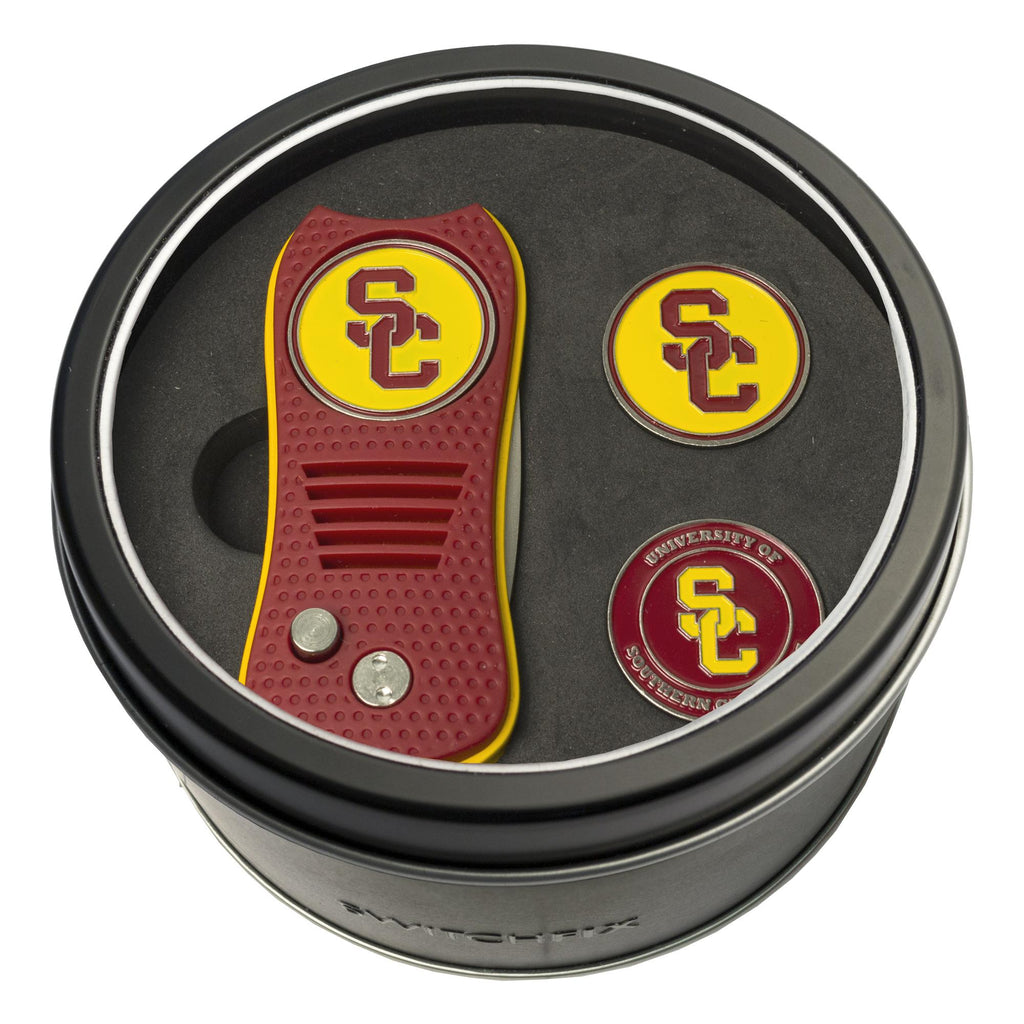 new style 521e1 a9ed2 USC Trojans Tin Gift Set with Switchfix Divot Tool and 2 Ball Markers – Fan  Shop HQ