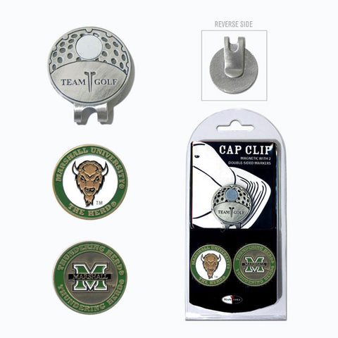 Marshall Thundering Herd Cap Clip With 2 Golf Ball Markers