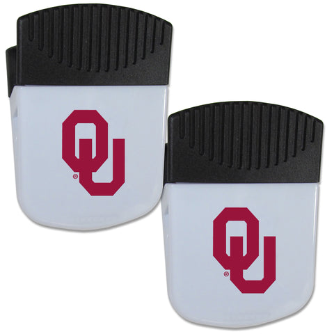 Oklahoma Sooners   Chip Clip Magnet with Bottle Opener 2 pack