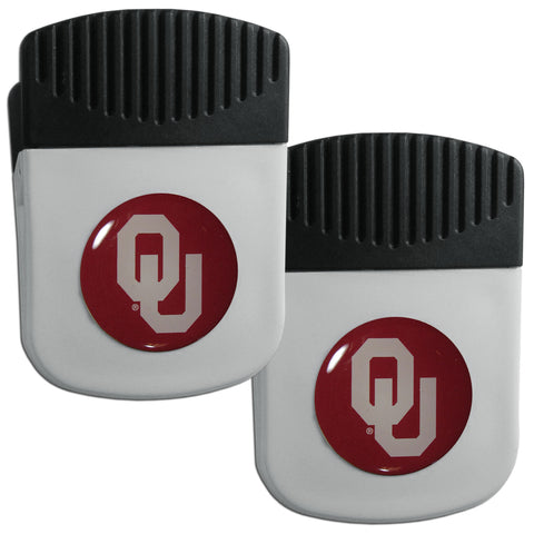 Oklahoma Sooners   Clip Magnet with Bottle Opener 2 pack