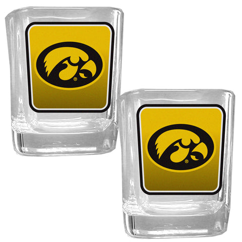 Iowa Hawkeyes   Square Glass Shot Glass Set