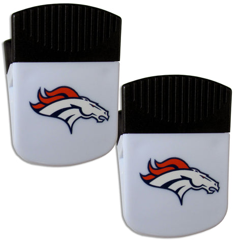 Denver Broncos   Chip Clip Magnet with Bottle Opener 2 pack