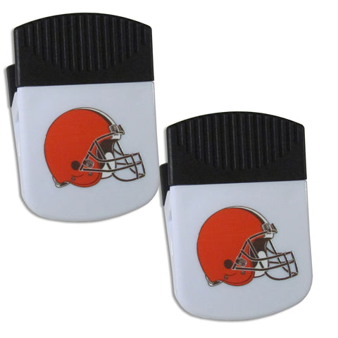 Cleveland Browns   Chip Clip Magnet with Bottle Opener 2 pack