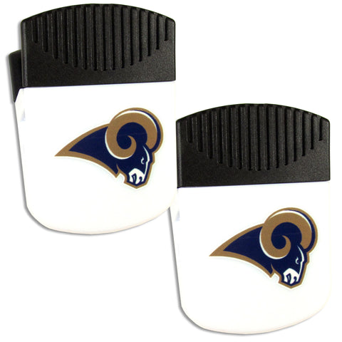 Los Angeles Rams   Chip Clip Magnet with Bottle Opener 2 pack