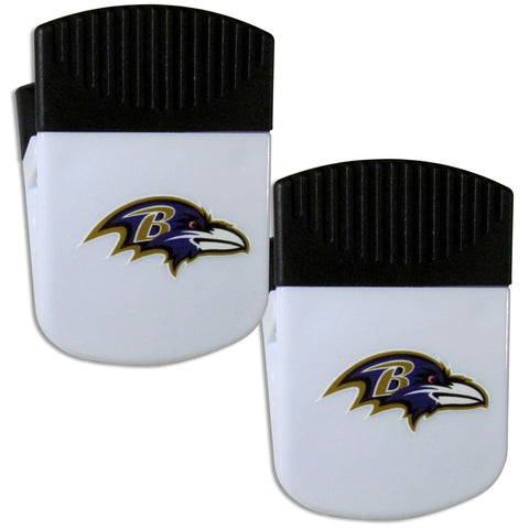 Baltimore Ravens   Chip Clip Magnet with Bottle Opener 2 pack