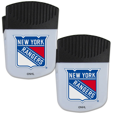 New York Rangers   Chip Clip Magnet with Bottle Opener 2 pack