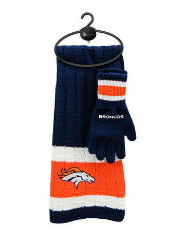 Denver Broncos - Limited Edition Heavy Knit Glove & Scarf Gift Set