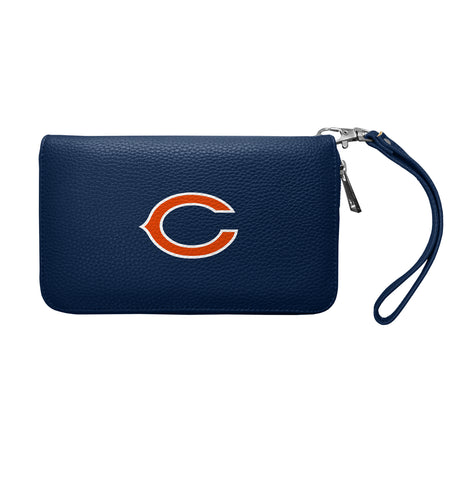 Chicago Bears Zip Organizer Wallet Pebble - NAVY