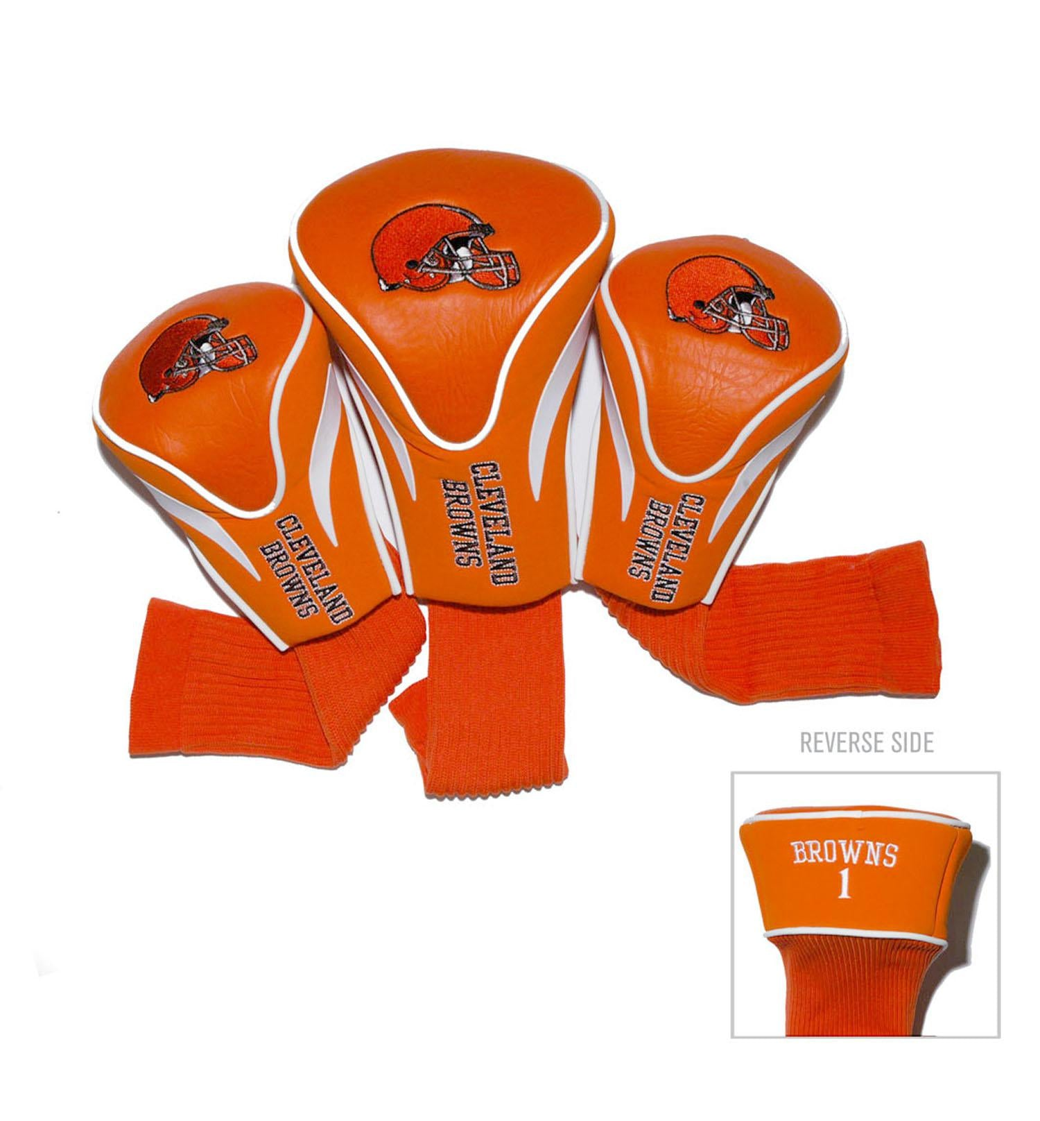 Cleveland Browns 3 Pack Contour Head Covers