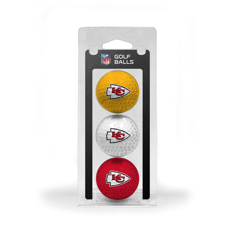 Kansas City Chiefs 3 Golf Ball Pack