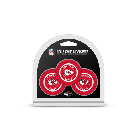 Kansas City Chiefs 3 Pack Golf Chip Ball Markers