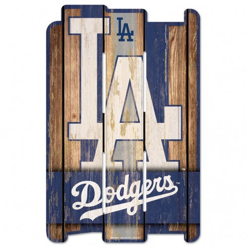 Los Angeles Dodgers Wood Fence Sign